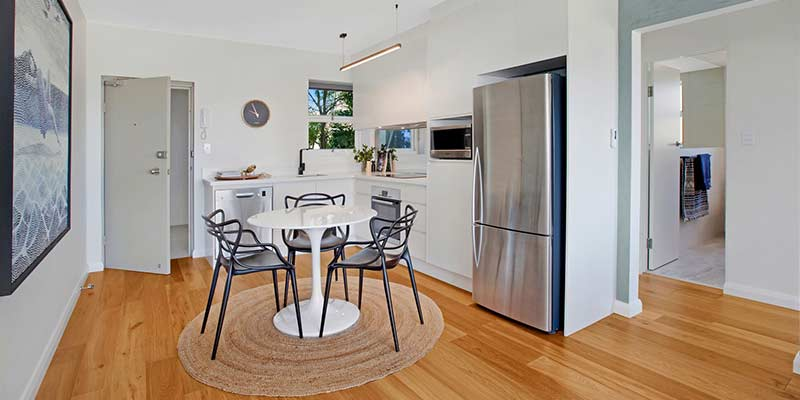 Balmain rental property kitchen and dining
