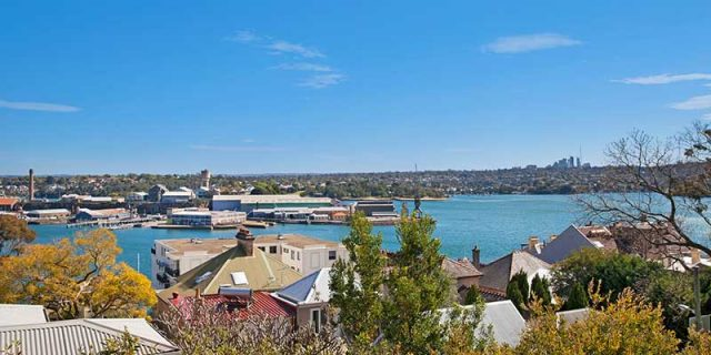 Balmain rental property water view